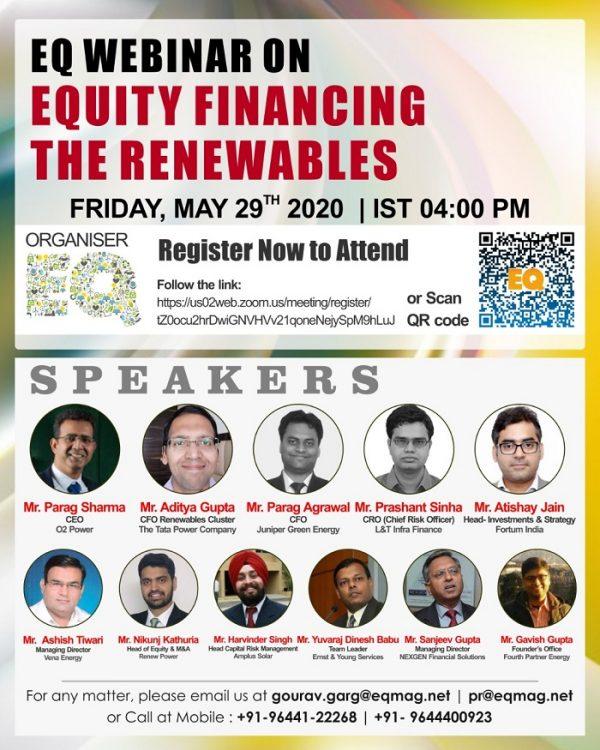 EQ Webinar on Equity Financing The Renewable Energy Projects