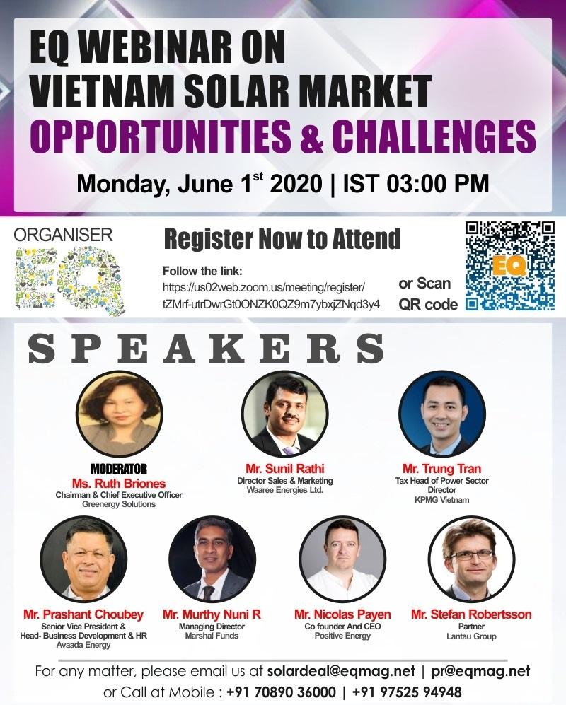 EQ Webinar on Vietnam Solar Market – Opportunities & Challenges