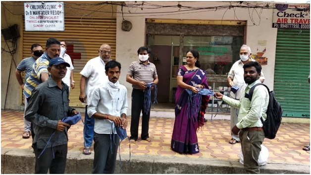 Covid-19 SNR Samskruti Ayurveda Kendra making 2000 cloth masks to give to needy ones in Hyderabad