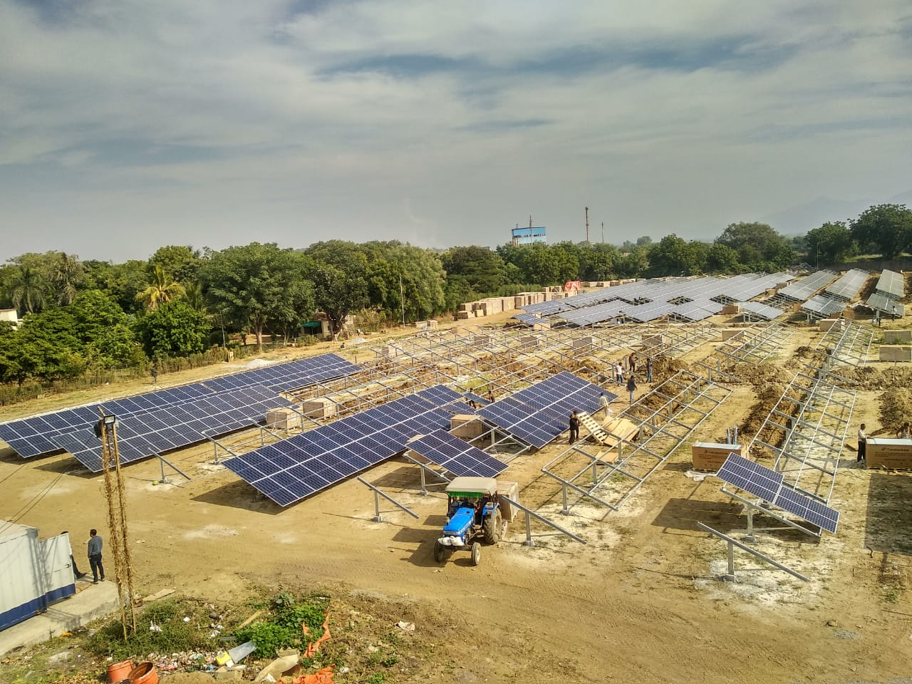 3 MW Captive Solar PV Power Plant commissioned by Solar91 Cleantech Pvt Ltd.