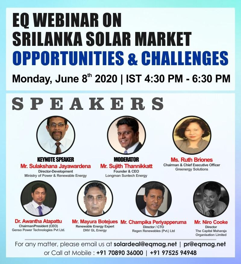 EQ Webinar on Sri Lanka Solar Market