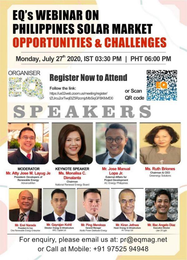 EQ Webinar on Phillipines Solar Market