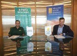 Green goes greener Hira Walraven signs solar contract with Yellow Door Energy