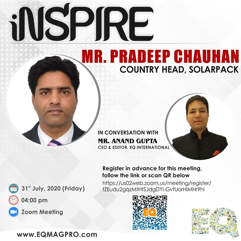 Mr. Pradeep Chauhan, Country Head , SolarPack in Live Conversation
