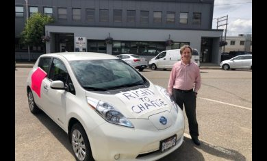 Prince George Electric Vehicle drivers support rally for a zero-emission future