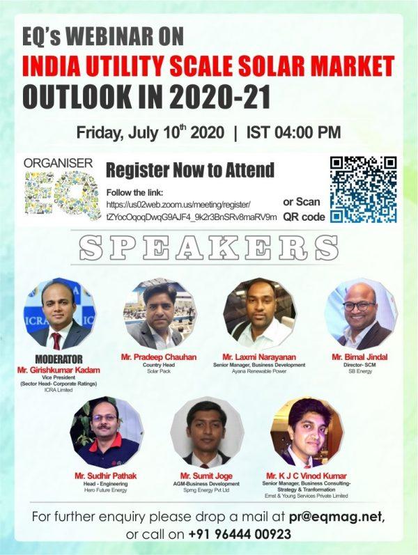EQ Webinar on India Utility Scale Solar Market Outlook in 2020-21