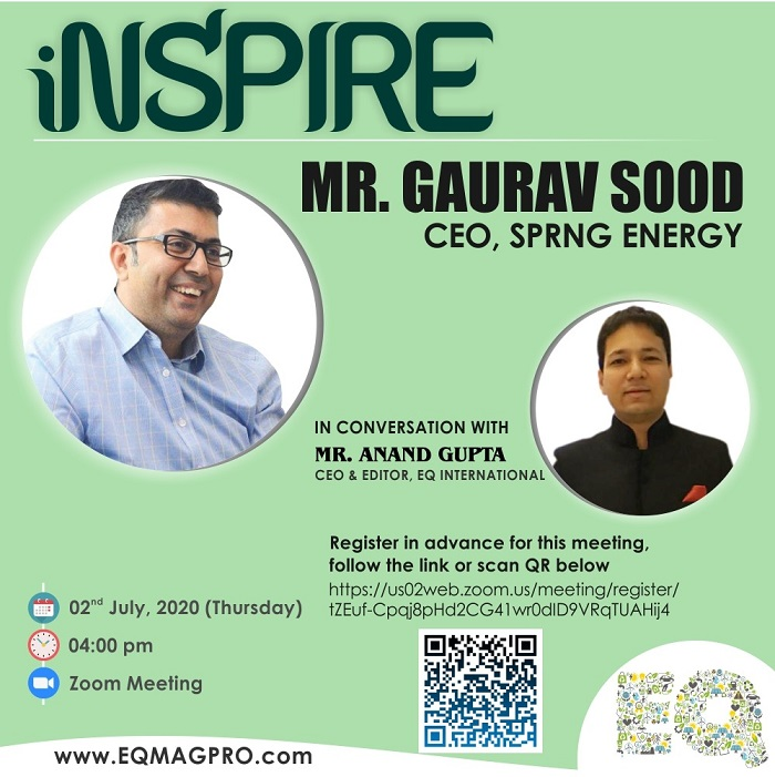 Mr. Gaurav Sood – CEO at Sprng Energy in in Live & Exclusive Interview