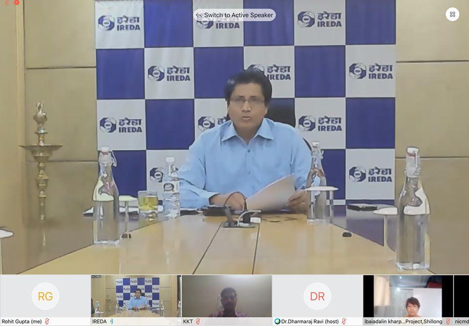 Shri Pradip Kumar Das CMD IREDA reiterated that IREDA