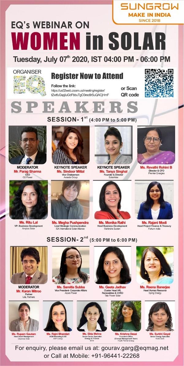 Webinar on Women in Solar Power Industry