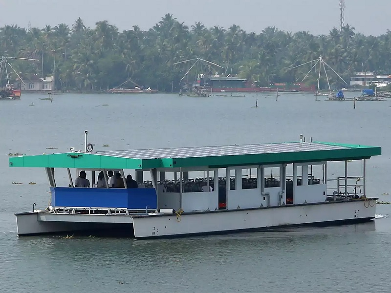 Indian solar ferry flies flag for cleaner, cheaper water transport