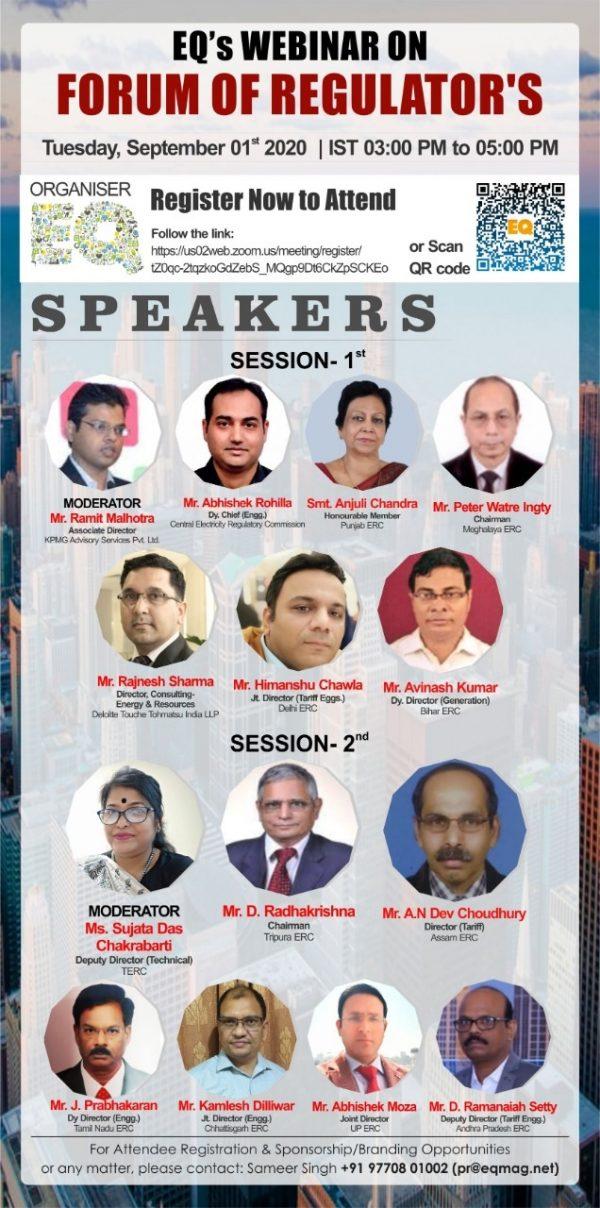 EQ Webinar on Forum of Regulators