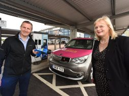 Scotland's largest electric vehicle charging station officially opened in Falkirk
