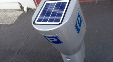 Solar for parking machines