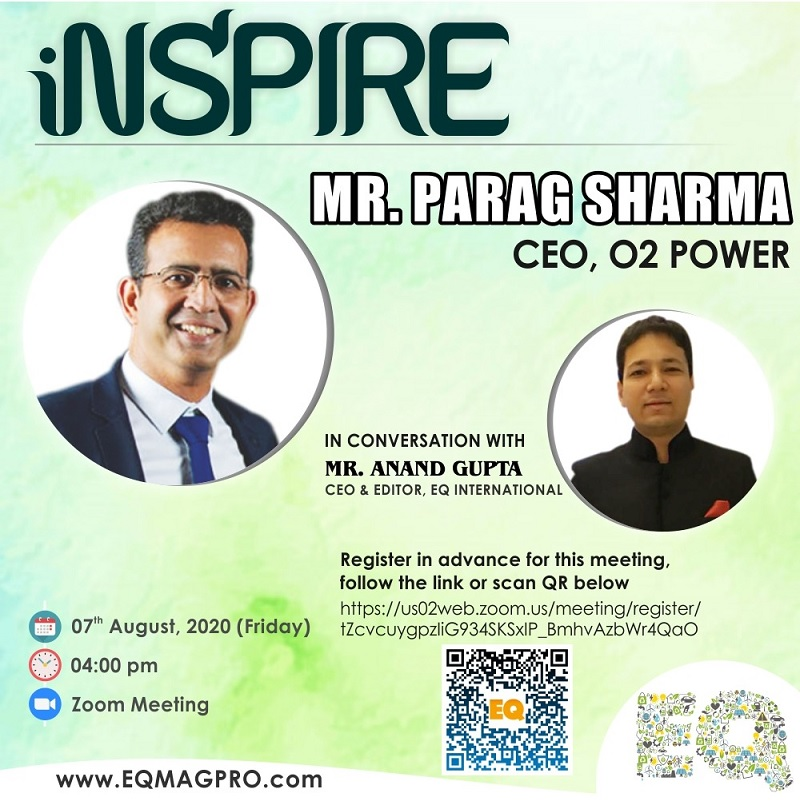 Mr. Parag Sharma, CEO at O2 Power in Live Conversation