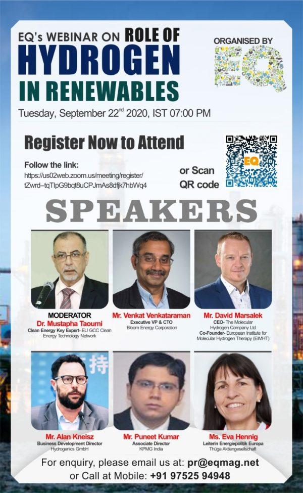 EQ Webinar on Role of Hydrogen in Renewable Energy