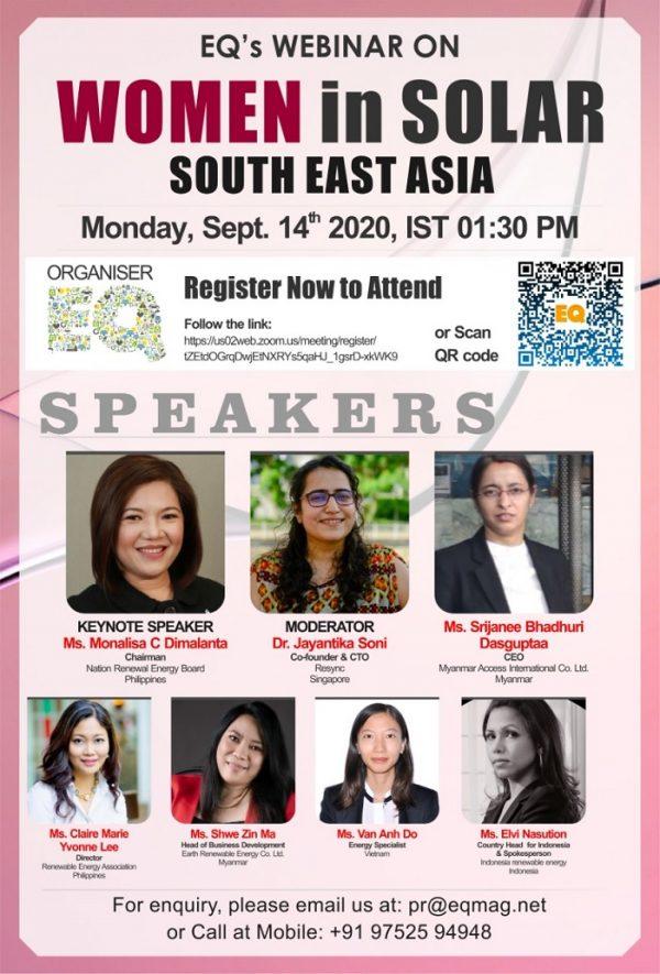 EQ Webinar on Women in Solar – South East Asia