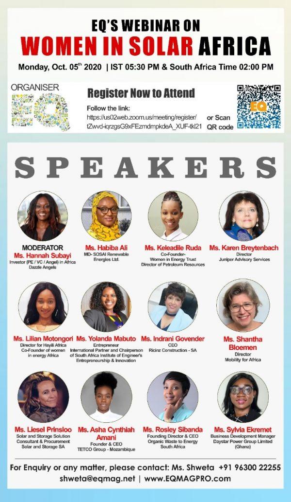 EQ Webinar on Women in Solar Sector in Africa