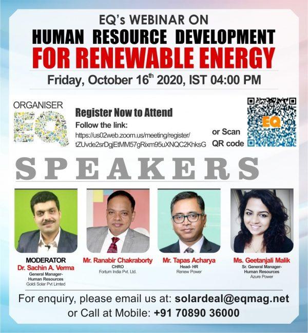 EQ Webinar on HRD in Renewables Sector