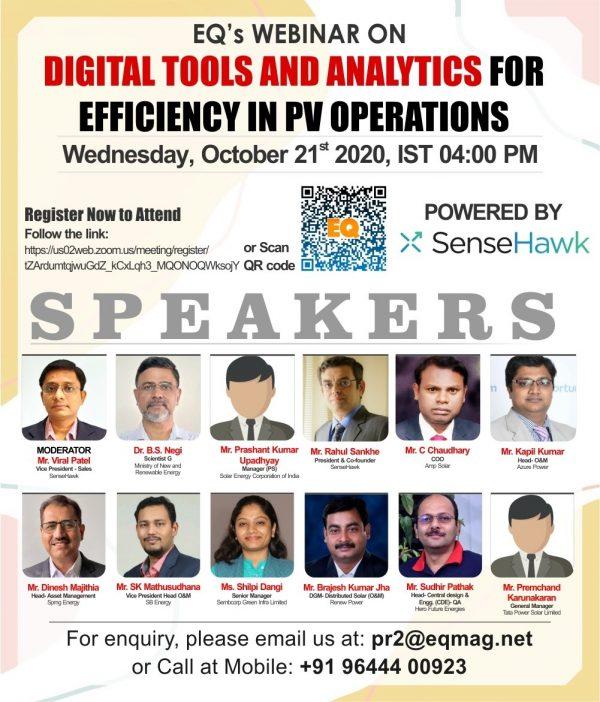 EQ Webinar on Digital Tools & Analytics for Efficiency in PV Operations