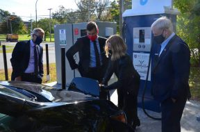Acadia University proud to offer new fast electric vehicle charging station
