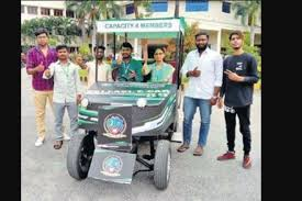Engineering college students build Rs 4 lakh electric car