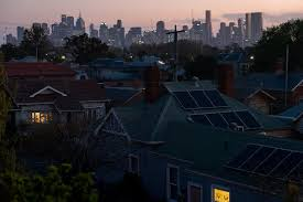 Solar panels on homes in Northcote, one of Melbourne's inner suburbs