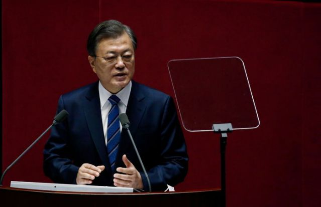 South Korea's Moon targets carbon neutrality by 2050