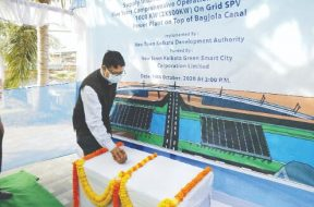 Work to set up a 1000 KW Solar Photo Voltaic starts in New Town