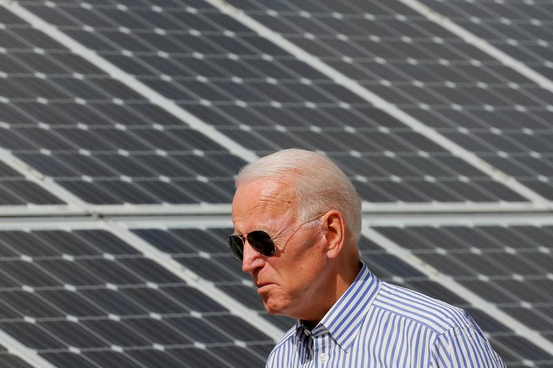 Analysis: Green is the color of money for funds betting on a Biden win