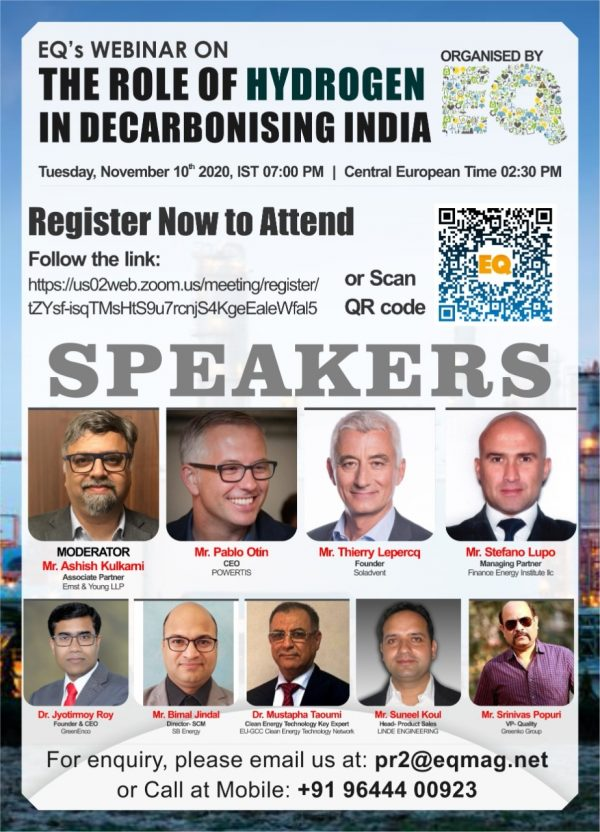 EQ Webinar on The Role of Hydrogen in Decarbonising India