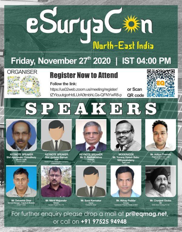 EQ Webinar on eSuryaCon North East India