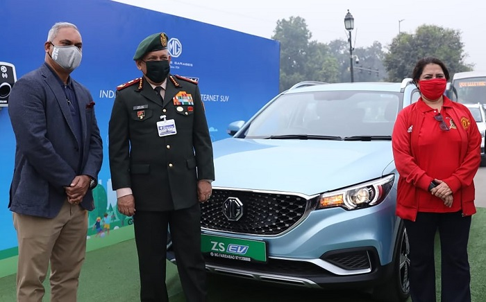 India's first pure electric SUV – MG ZS EV participates in first-ever EV trial-run between Delhi and Agra #NHforEV2020