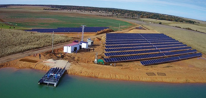 Optimising efficiency of solar-powered pumping systems