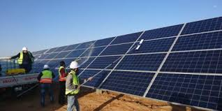 An agreement to finance household solar systems