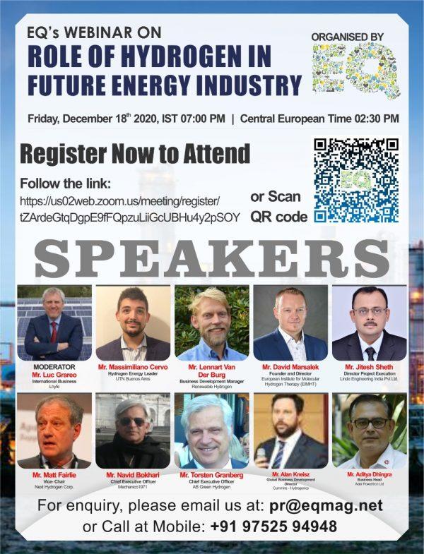 EQ Webinar on Role of Hydrogen in Future Energy Industry