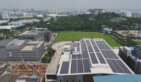 Total Solar DG building solar, storage hybrid micro-grid in Cambodia