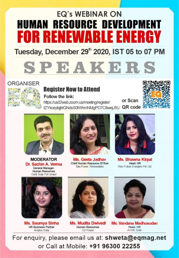EQ Webinar on HRD for RE Sector in India
