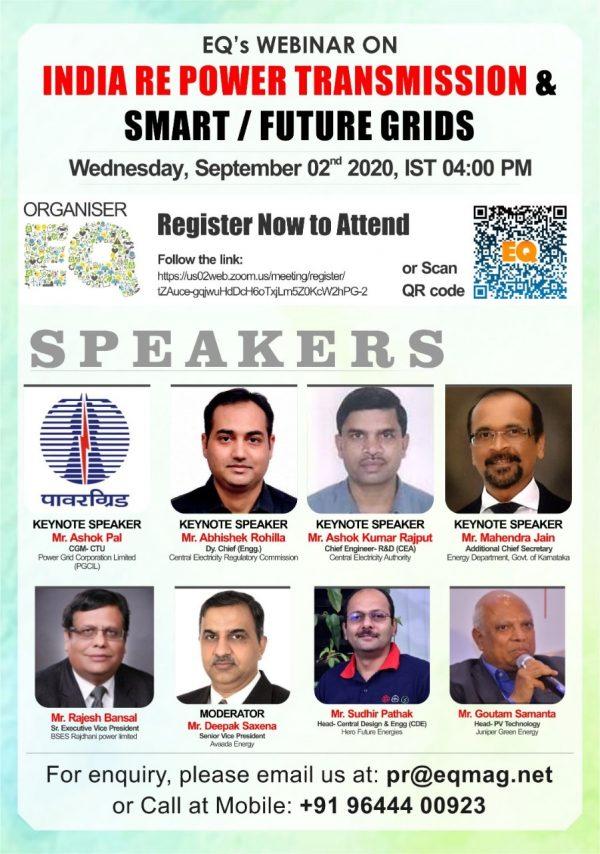 EQ Webinar on India RE Power Transmission & Smart / Future Grids