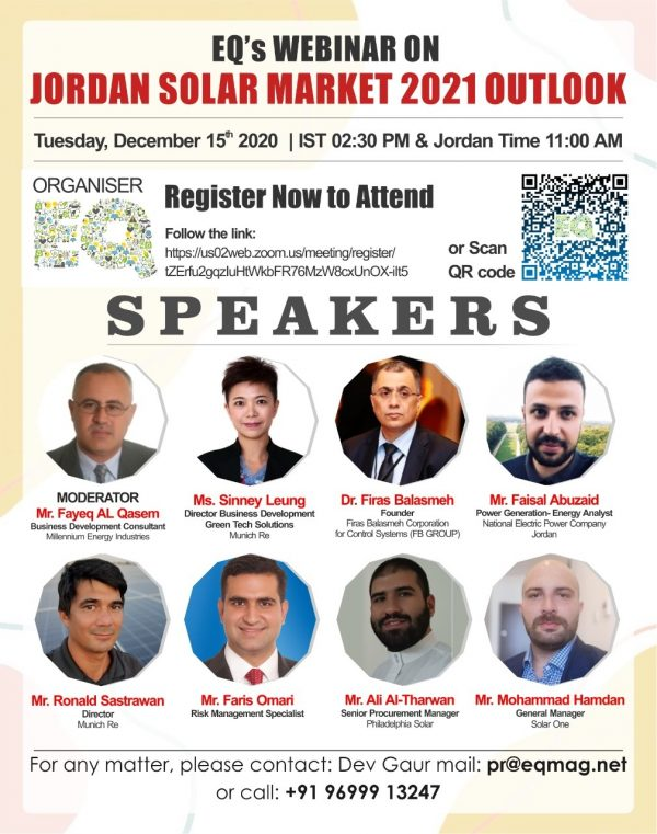 EQ Webinar on Jordan Solar Market 2021 Outlook