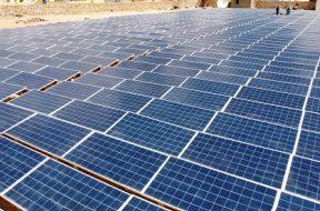 solar hybrid power plant in somalia, africa – drone aerial photo