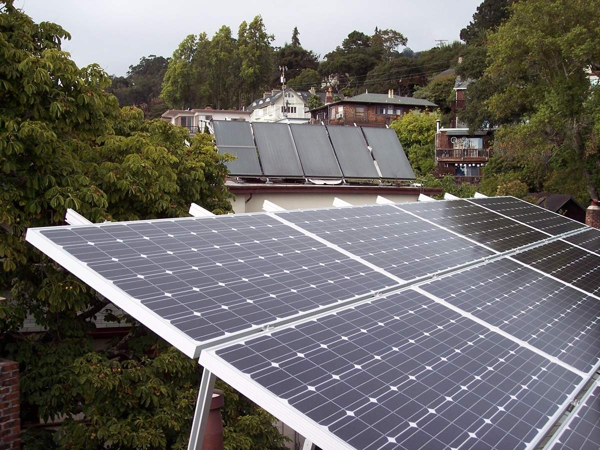 Generating solar energy at home