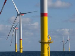 The offshore wind farm Arkona, a project of the energy companies E.ON and Equinor, in the Baltic Sea.