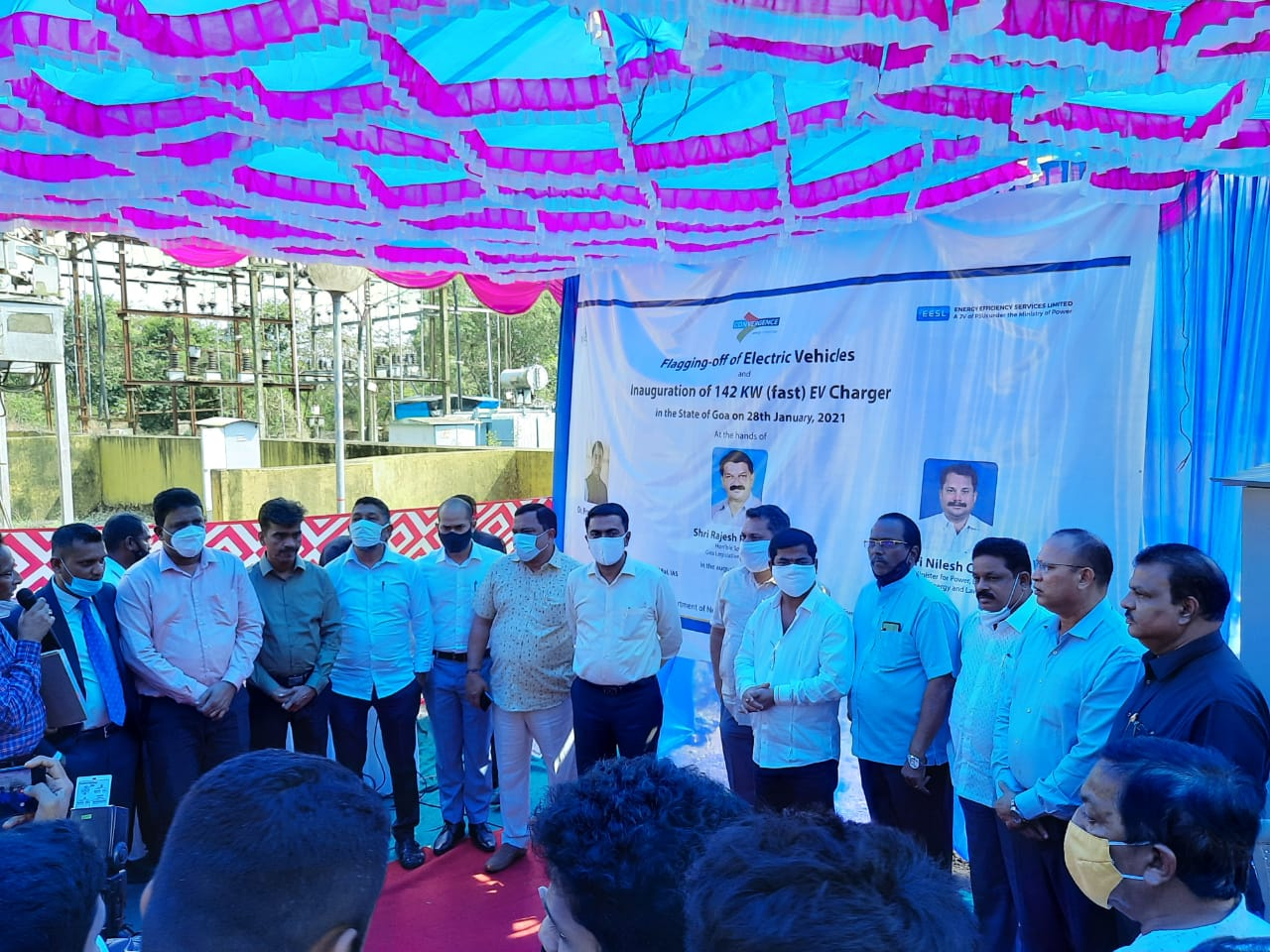 Chief Minister of Goa inaugurates first public EV charging station installed by CESL