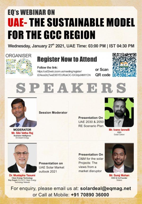 EQ Webinar on UAE – The Sustainable model for the GCC Region