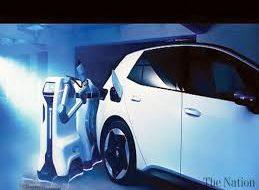 Volkswagen unveils prototype EV charging robot