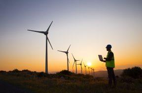 Engineers of wind turbine