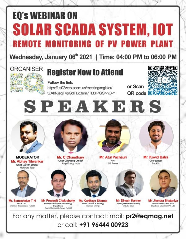 EQ Webinar on Solar SCADA System, IOT, Remote Monitoring of PV Power Plants