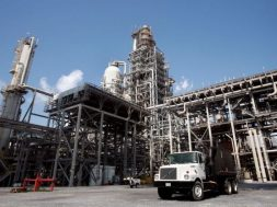 FILE PHOTO: The Valero St. Charles oil refinery is seen during a tour of the refinery in Norco