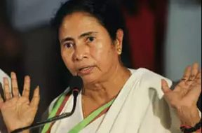 Mamata rides pillion on electric scooter to protest fuel price hike
