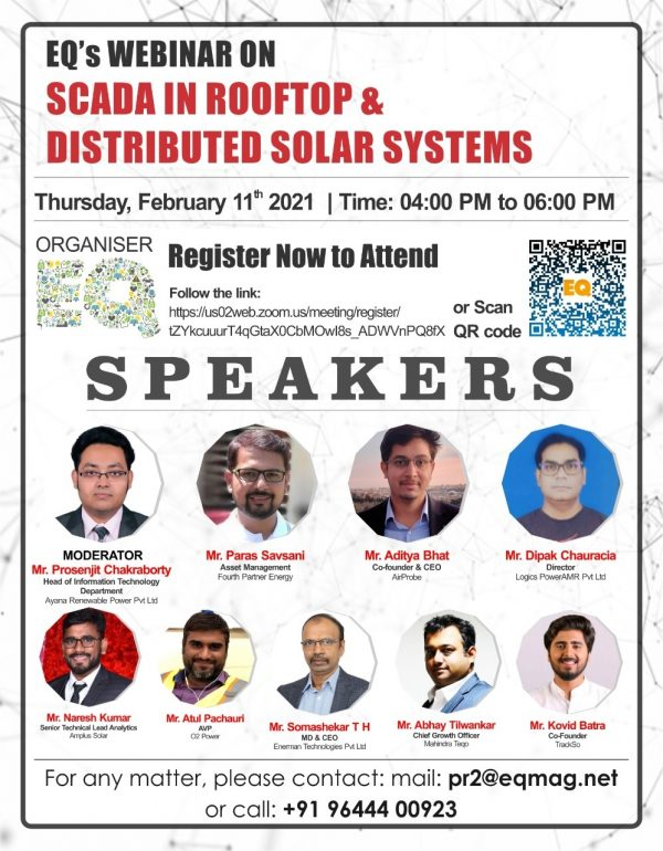 EQ Webinar on SCADA in RoofTop & Distributed Solar Systems